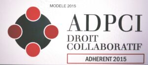 modele de logo adherent de droit collaboratif